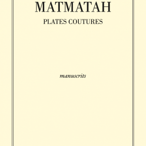 Front - Manuscrits paroles Plates Coutures