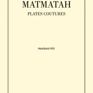 Front - Manuscrits paroles Plates Coutures